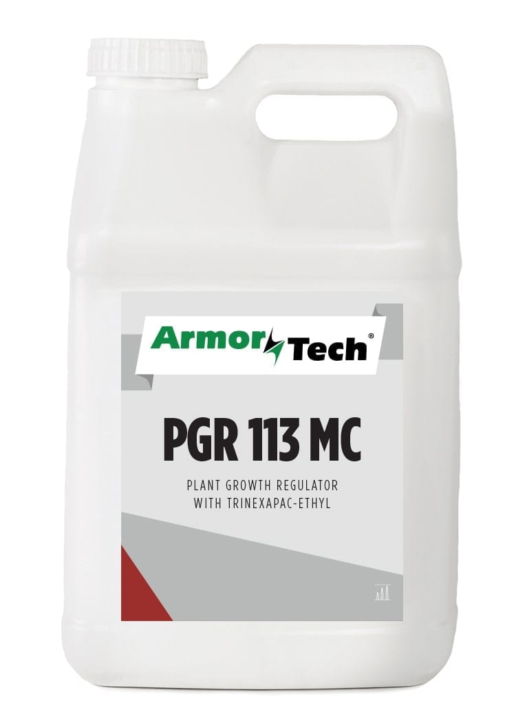 white bottle of armortech pgr 113 mc turf growth regulator