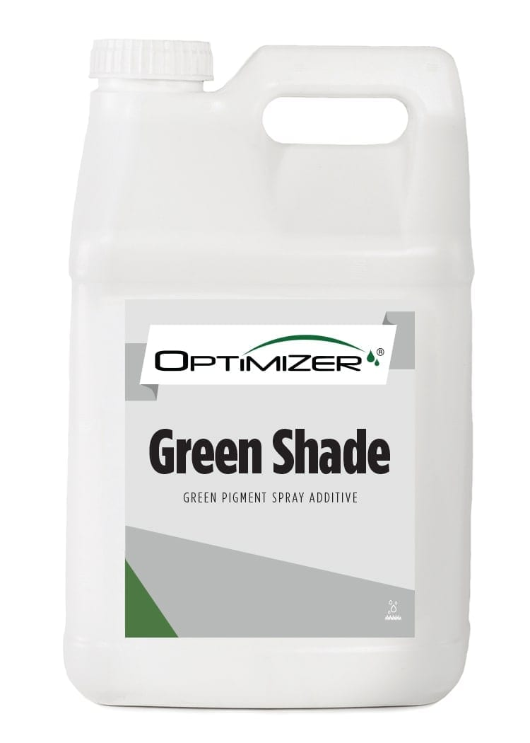 white bottle of optimizer green shade turf pigmentation