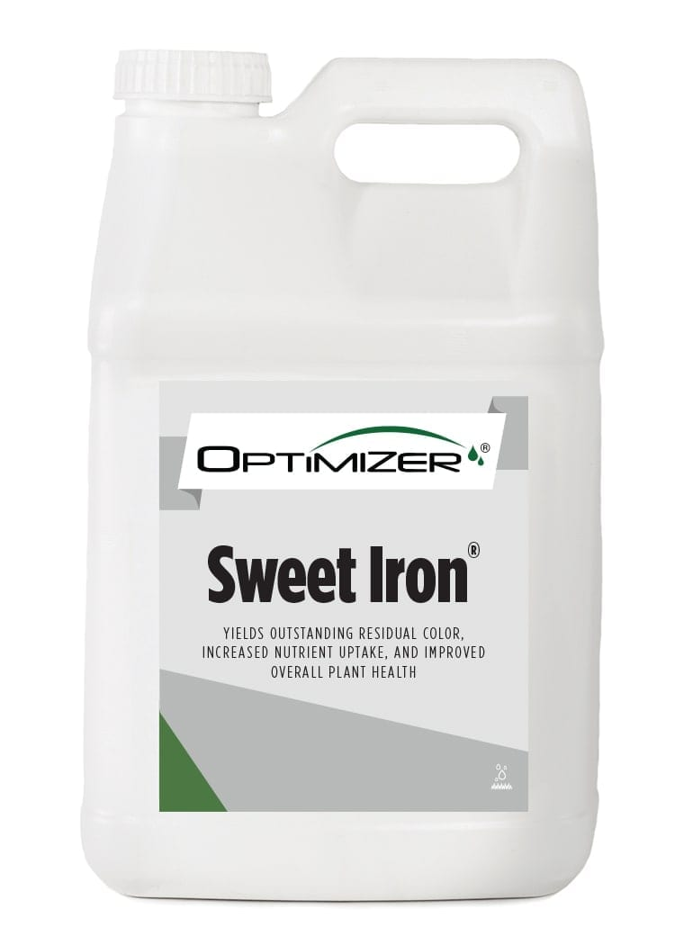 white bottle of optimizer sweet iron turf nutrition