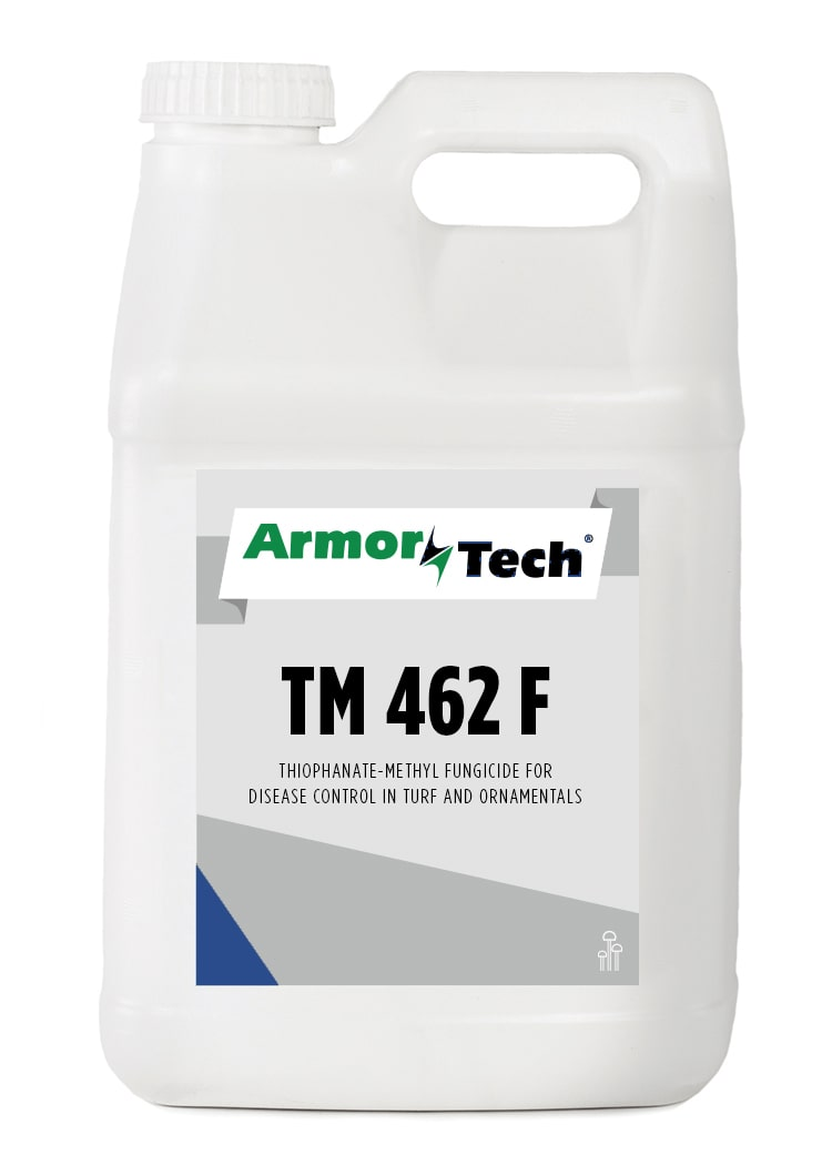 white bottle of armortech tm 462 turf fungicide