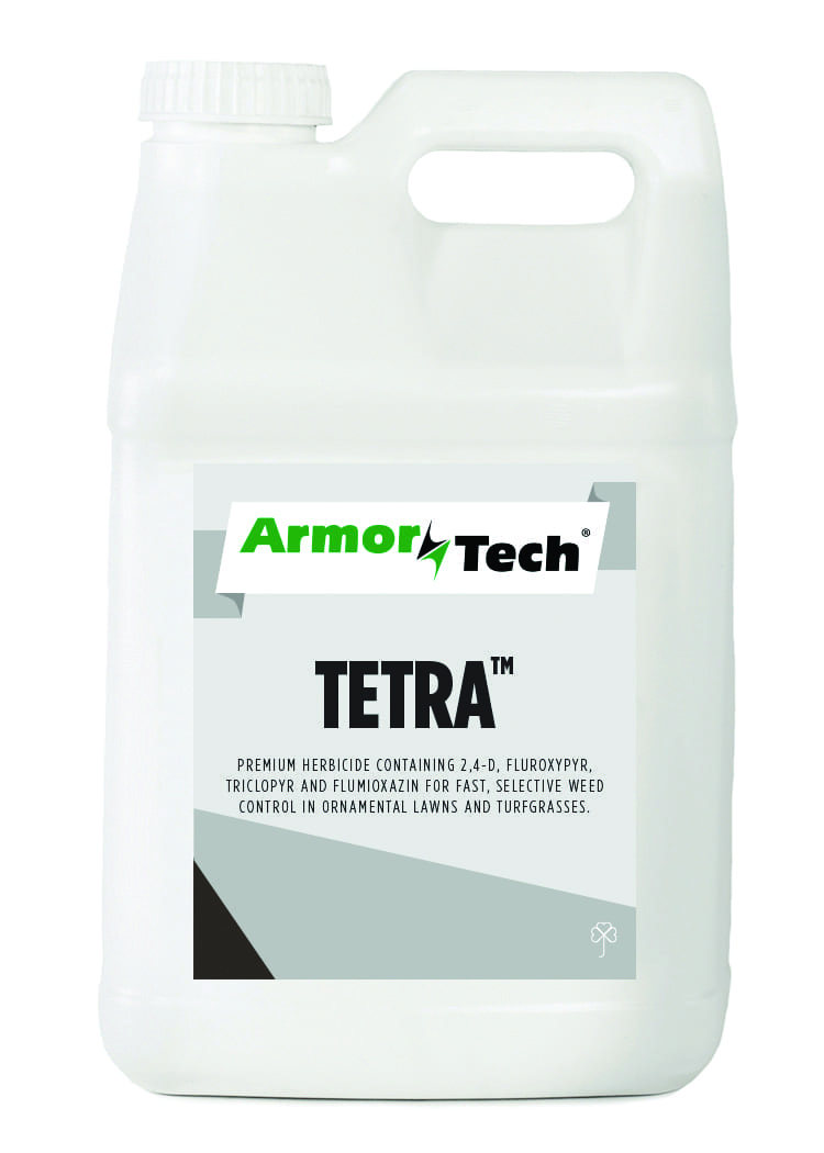 white bottle of ArmorTech tetra herbicide
