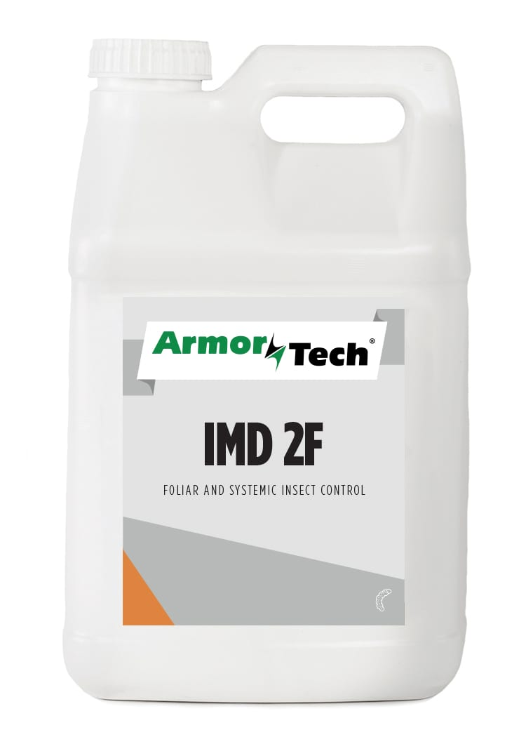 white bottle of ArmorTech IMD 2F foliar and systemic insect control